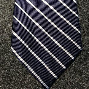 """JCrew navy/white 3 1/8"""" silk tie"""